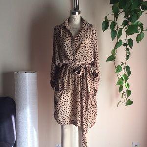 Chloé Wrap Dress Cheetah Print